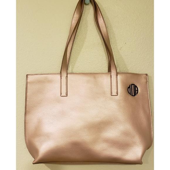 Mark & Graham Handbags - Mark & Graham Leather Gold Tote Bag